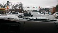 Longview Texas snow fun gets fun at end