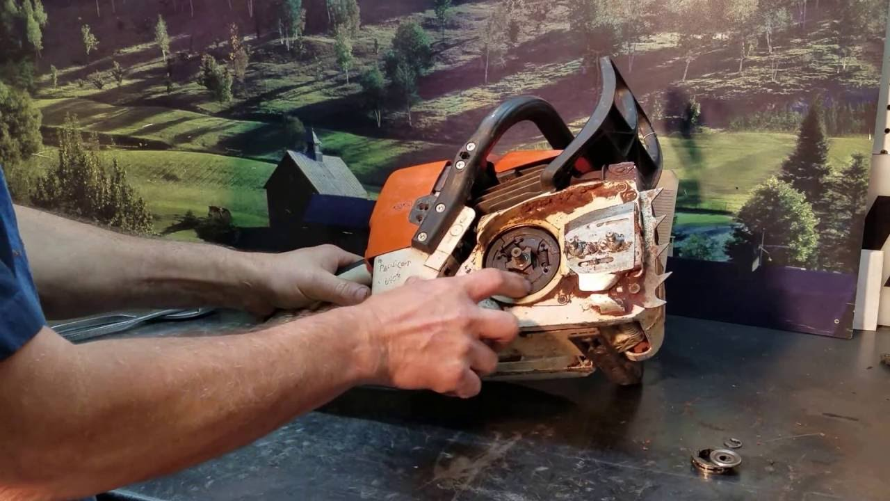 The Chainsaw Guy Talk Stihl Ms 361 Clutch Repairs