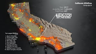 Animated Maps: California Wildfires from 1910-2019