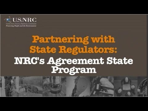 Partnering With State Regulators Nrcs Agreement State Program