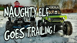 NAUGHTY ELF GOES FOR A RIDE | RC TRAILING | RC AXIAL SCX10 JEEP