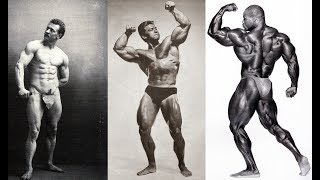 EVOLUTION OF BODYBUILDING FROM 1900 TO PRESENTE
