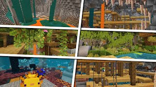 Minecraft Cave Seeds You NEED To Explore! (Huge Lush Caves, Dripstone Caves, Mineshafts & More!)
