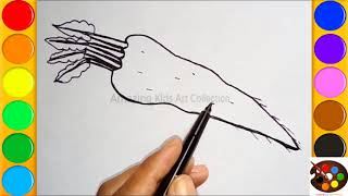 How to draw a Radish for kids || Drawing & Coloring Videos for Children