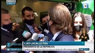 Lacalle Pou anunció que analiza la vuelta del público a las canchas de fútbol