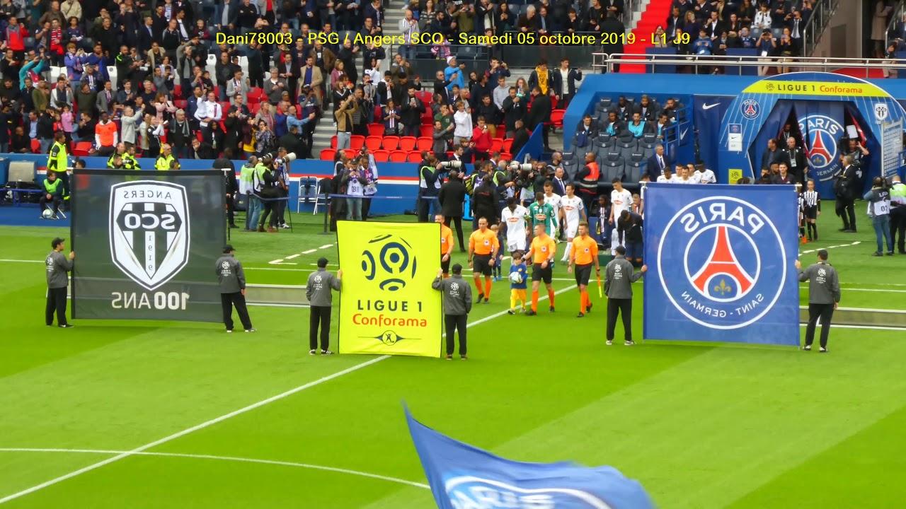 PSG / Angers 05.10.2019 : 4-0 (L1 J9) 3/5 : Entrée des ...