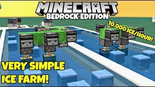 Minecraft Bedrock: Simple Ice Farm Tutorial! 10,000/Hour! MCPE Xbox PC