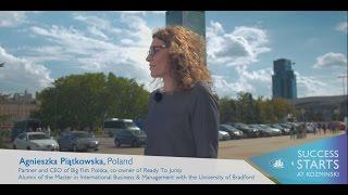 SUCCESS STARTS AT KOZMINSKI - Agnieszka Piątkowska