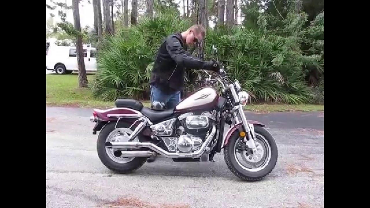 1998 suzuki marauder vz 800 (maroon/tan) #1493 fallen cycles test