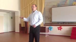 Урок мужності за участю військових в Сєвєродонецьку. Першу частину веде вчитель історії С.Марченко.