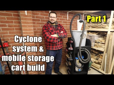 Cyclone dust collector and mobile storage cart - PART 1