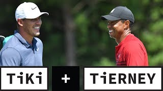 Brooks Koepka CURVES Tiger Woods Text About Practice Round | Tiki +Tierney
