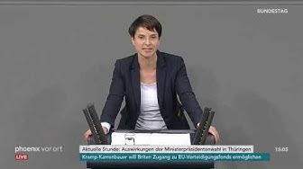 Frauke Petry (fraktionslos) zu Thüringen am 13.02.20