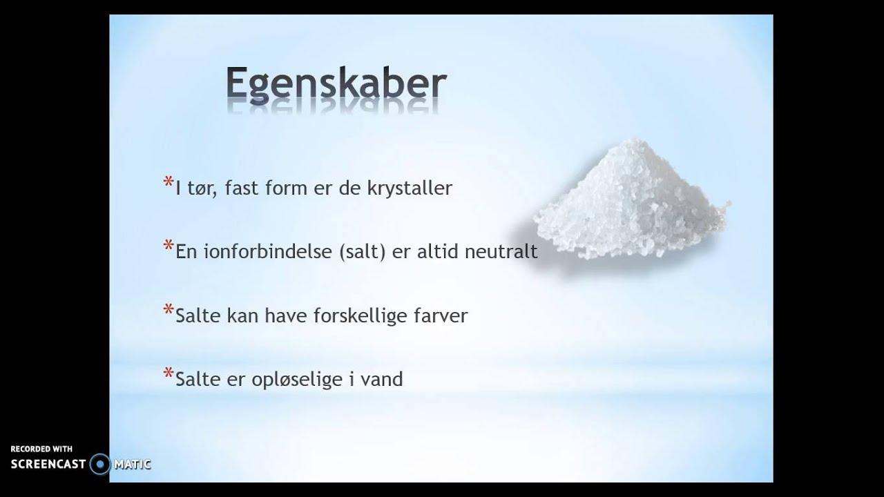 Salte og ionforbindelser - BioTek
