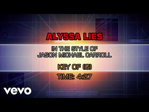 Jason Michael Carroll - Alyssa Lies (Karaoke)