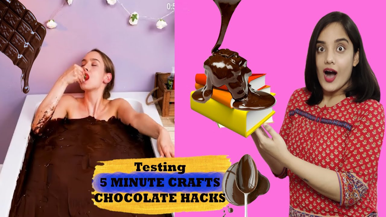 Testing Out Viral Chocolate Hacks by 5 MINUTE CRAFTS | Life Shots
