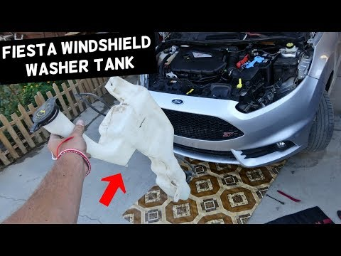 HOW TO REMOVE AND REPLACE WINDSHIELD WASHER RESERVOIR ON FORD FIESTA MK7 ST