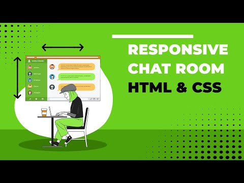 Responsive Chat Room - HTML & CSS