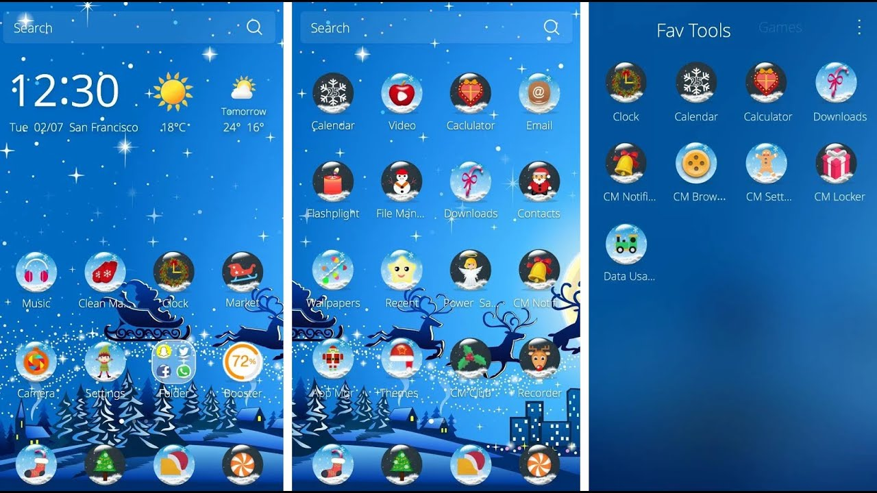Get Merry Christmas Theme with CM Launcher - Download, Install and ...