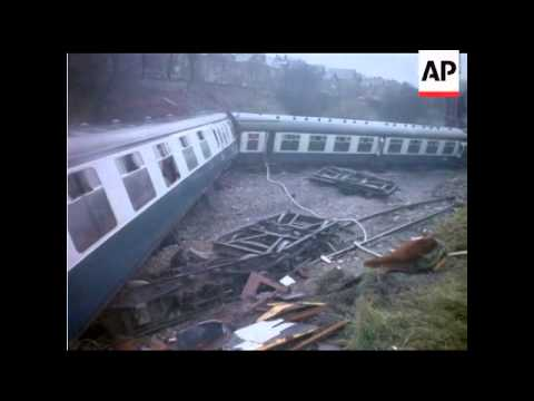 WEST EALING TRAIN CRASH - COLOUR - NO SOUND