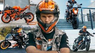 Best Motorcycle Stunts, Drifts and Fails of 2017   KTM RC 390 & KTM Duke   RokON vlog #44