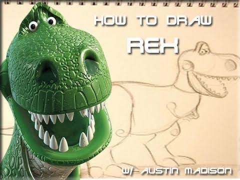 StayToonedAnimation - PIXAR TUTORIAL: HOW TO DRAW REX FT. AUSTIN MADISON