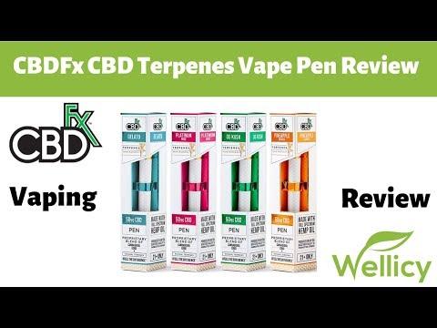 CBDFx CBD Terpenes Vape Pen Review | Disposable CBD Vape Pen | 4 Flavors