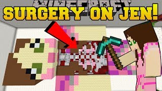 Minecraft: SURGERY ON GAMINGWITHJEN!!! - Surgeon Simulator - Custom Map