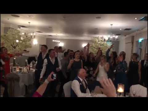 Danny & Bethany's wedding breakfast - The Sing Along Waiters