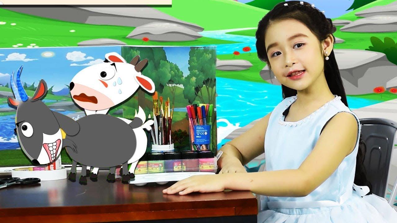 Bé Bảo Ngọc kể chuyện DÊ TRẮNG VÀ DÊ ĐEN | Thế Giới Cổ Tích Việt Nam | Sen Vang Kids