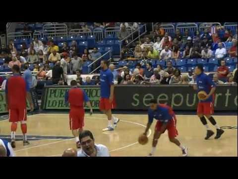 CentroBasket 2012 - P.R. vs R.D. Barea calentando antes del juego