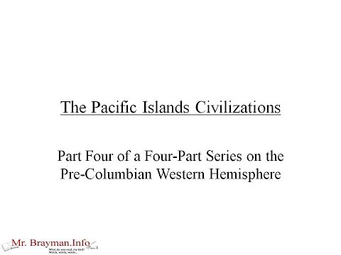 The Pacific Islands Civilizations