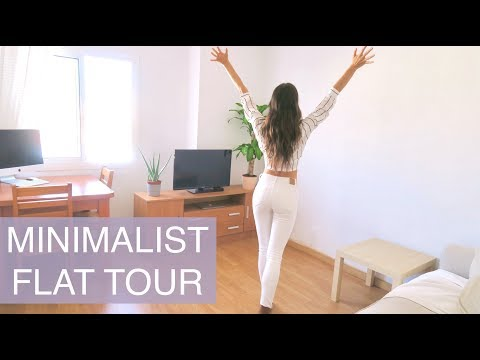 HOW TO DECORATE A SMALL APARTMENT ON A BUDGET - Minimalist Flat Tour, creating space | natalie danza
