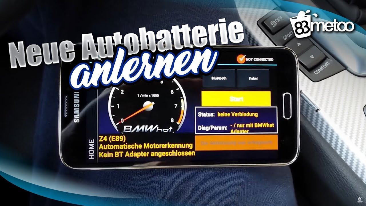 bmw neue batterie anlernen bmw batterie codieren mit. Black Bedroom Furniture Sets. Home Design Ideas