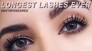 My Secret to LONGER LASHES without Extensions // #NOTSPONSORED || Lash Boost