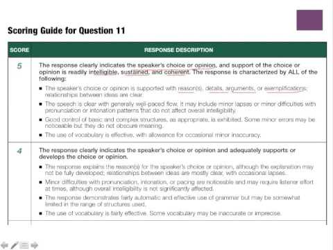 Toeic speaking question 11.