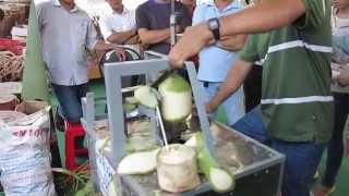 Máy gọt vỏ dừa - Lễ Hội dừa Bến Tre 2015