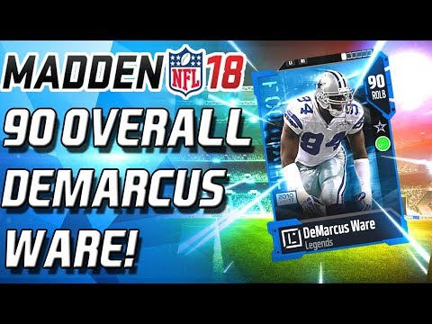 90 OVERALL DEMARCUS WARE! WRONG STATS! - Madden 18 Ultimate Team