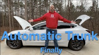It is finally here The automatic trunk on the Tesla Model 3. I have...