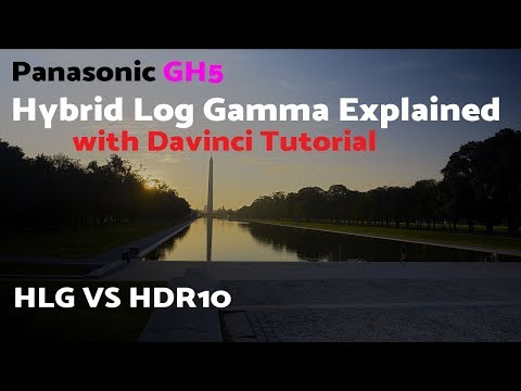 World Exclusive - GH5 FW 2.0 HLG vs LOG - what is HLG with davinci tutorial