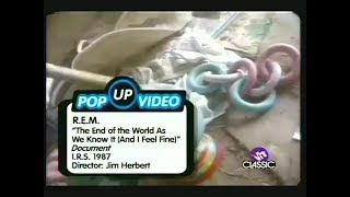 VH1 Pop-Up Video - R.E.M. - It's the End of the World as We Know It (And I Feel Fine) 1 ...