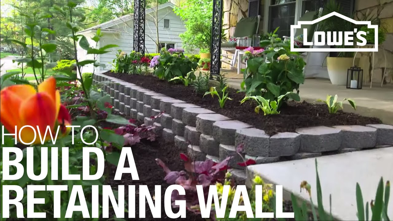 How to build a retaining wall youtube for How to start building a house