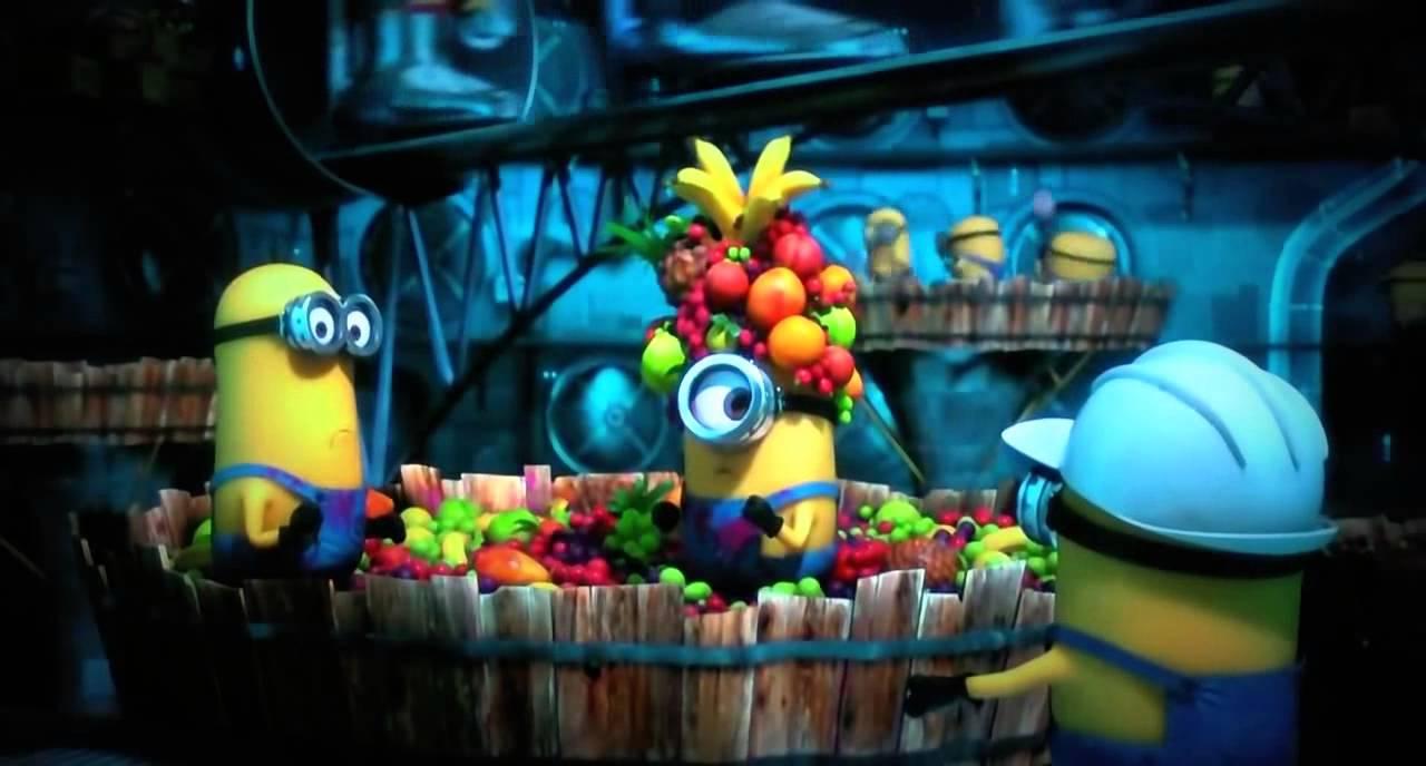 minion dancing with tutti frutti hat youtube