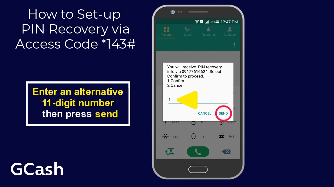 How to Set up MPIN recovery via GCash Access Code *143#