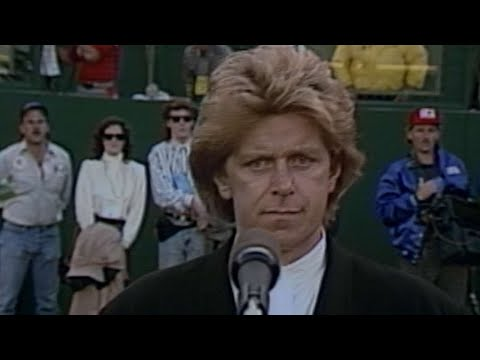 WS1988 Gm4: Peter Cetera performs national anthem
