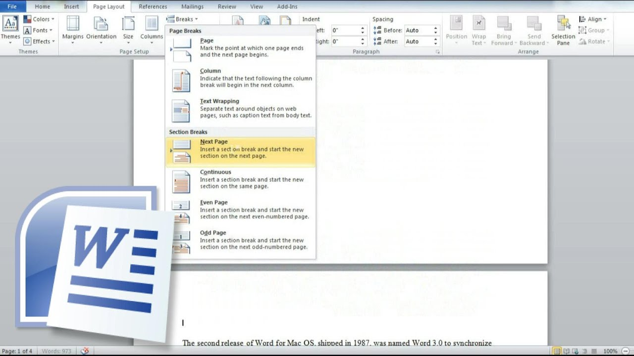 How To Remove, Delete Section Break In Word