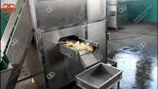 Automatic Ripe Banana Peeling Machine Automatic Raw Banana Peeler Machine 340 pcs/min With Conveyor