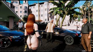 GTA 6 ✪ Photorealistic Graphics ACTION Gameplay! REDUX & NaturalVision & M.V.G.A. - GTA V MOD