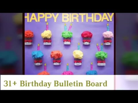 picture regarding Birthday Bulletin Board Ideas Printable referred to as 30+ Amazing Birthday Bulletin Board - YouTube