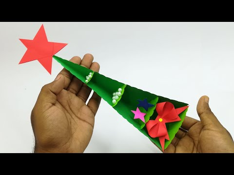 Tabletop Paper Christmas Tree Ultimate Decorate | Christmas Decorations Ideas | Crafts Tutorial